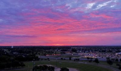 Sunrise over Shakopee drone shot