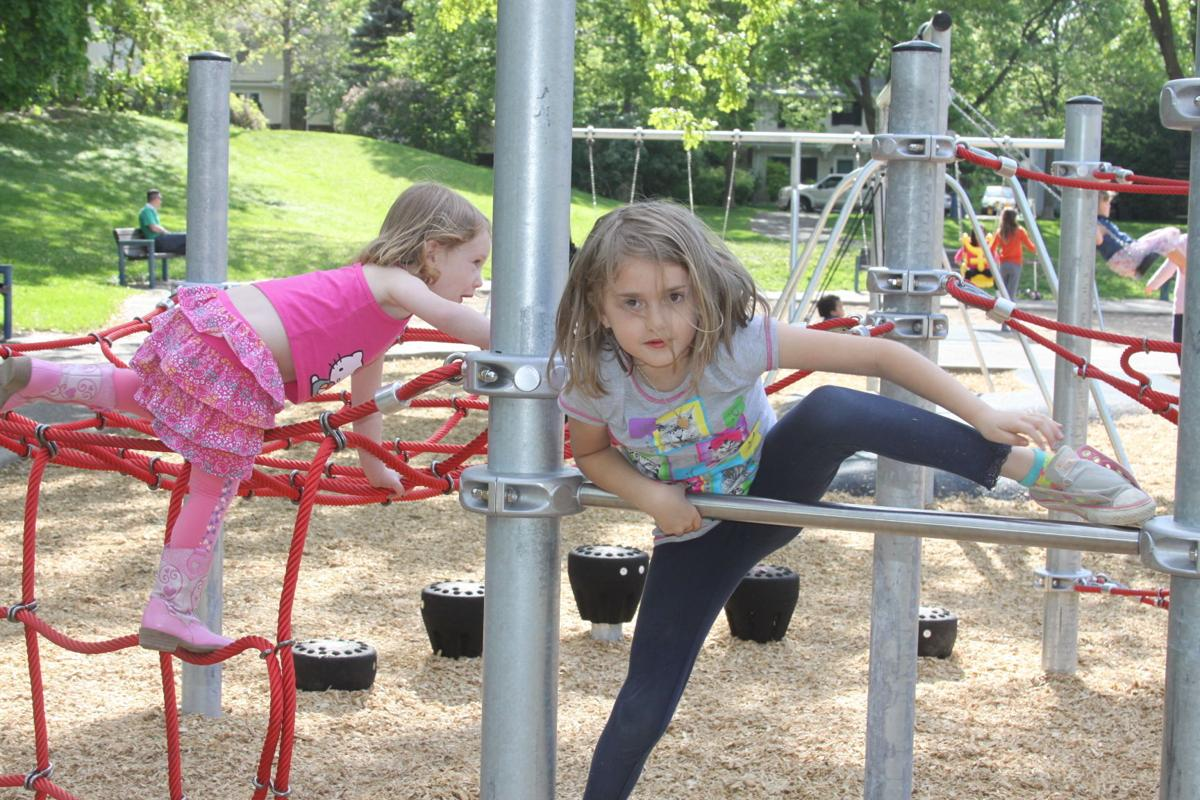 Sisters on the playground