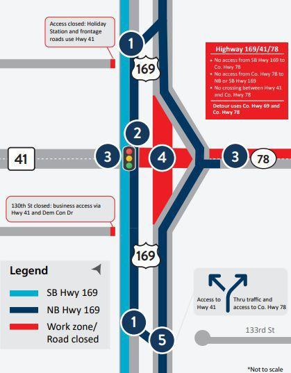 Highway 169/41 traffic map