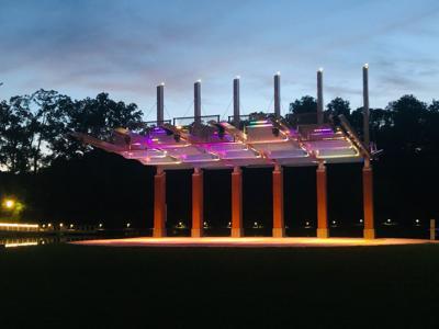 Firemen's Park stage lights
