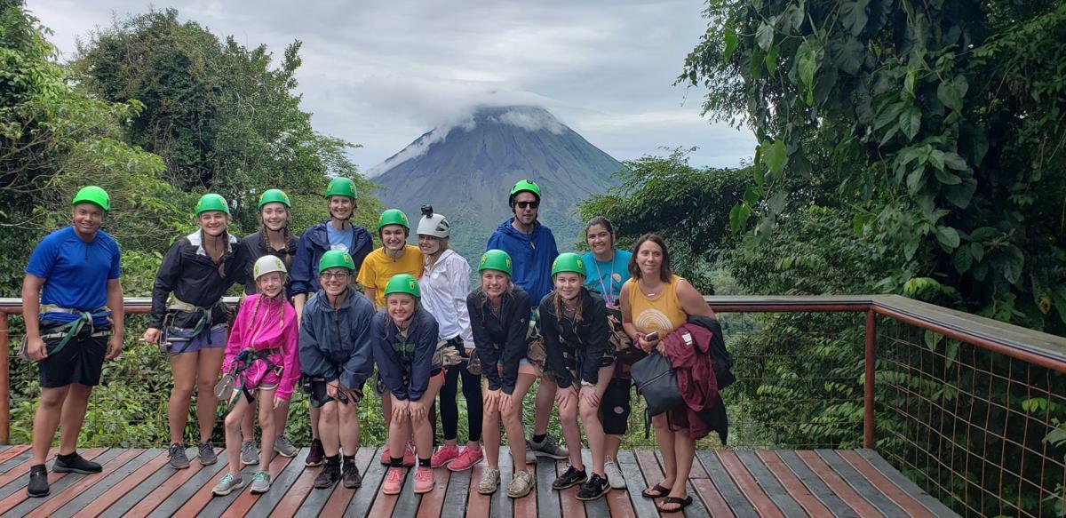 Jordan students zip line in Costa Rica