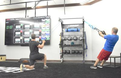 Snap Fitness video screen
