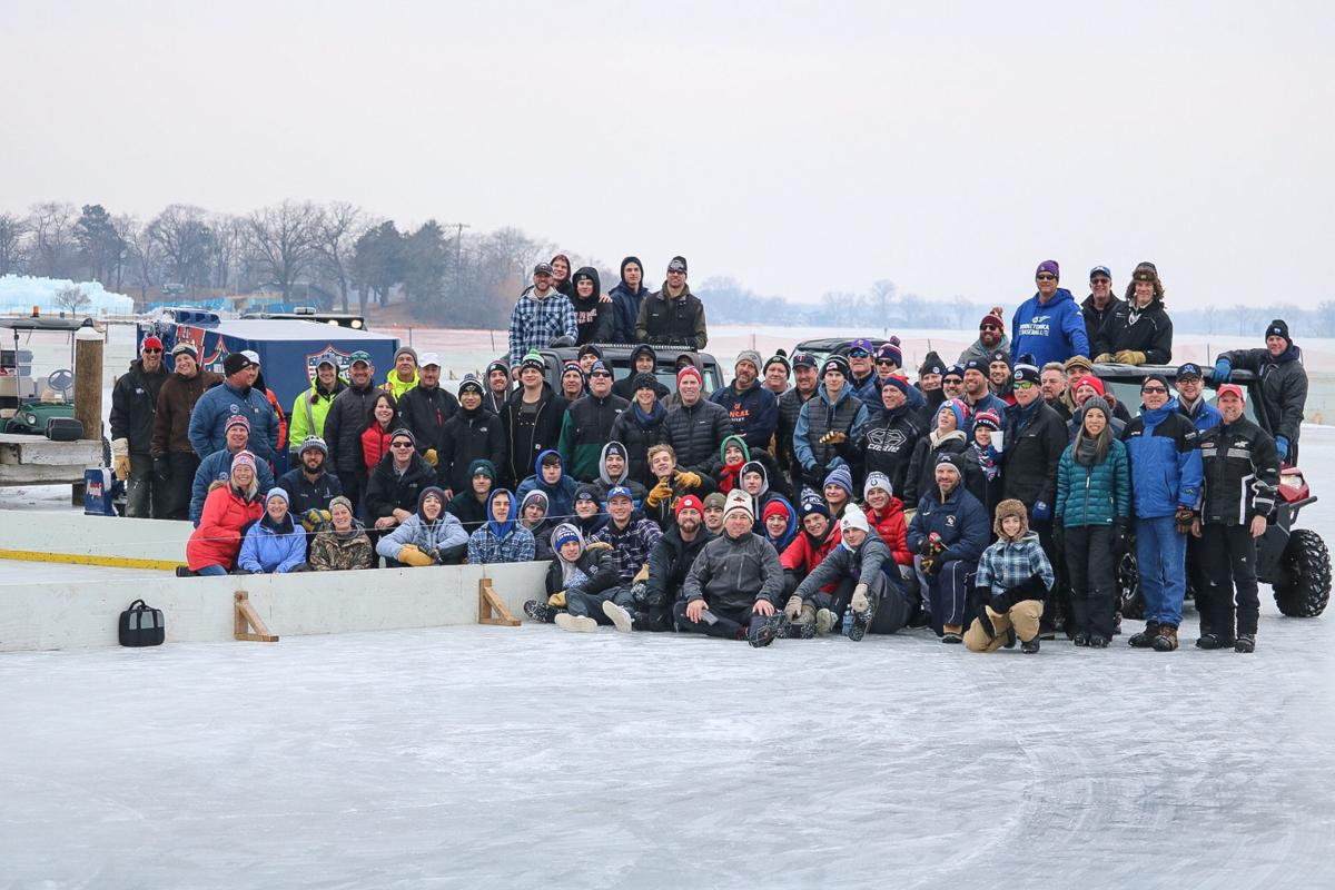 Perfect Ice For The North American Pond Hockey Championship Lake