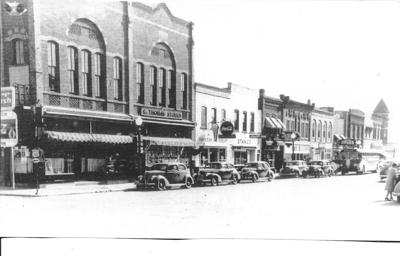 First Avenue between Holmes Street and Lewis Street during the 1940s