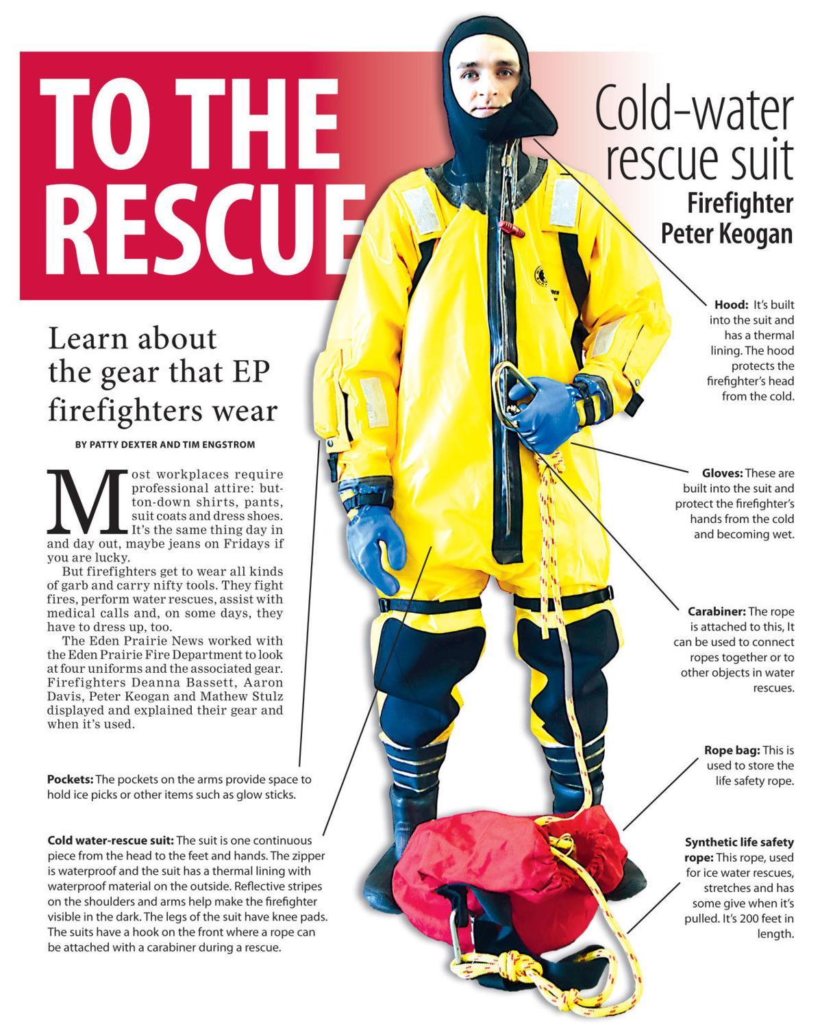 Learn about the gear the Eden Prairie firefighters wear