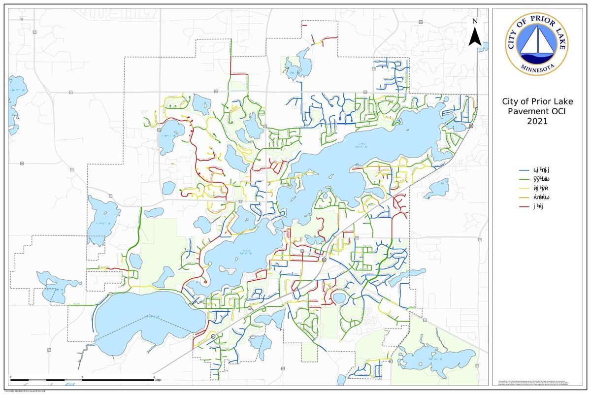 City of Prior Lake Pavement OCI 2021