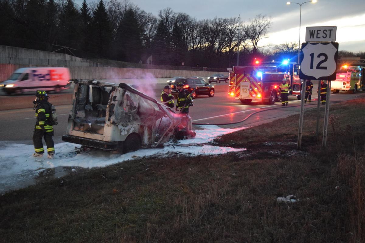 Wayzata Fire Department responds to Highway 12 fire