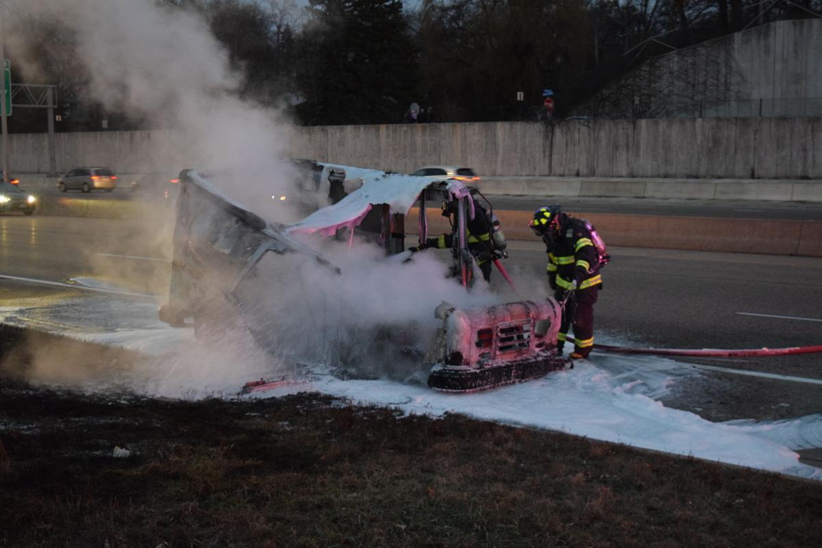Highway 12 fire