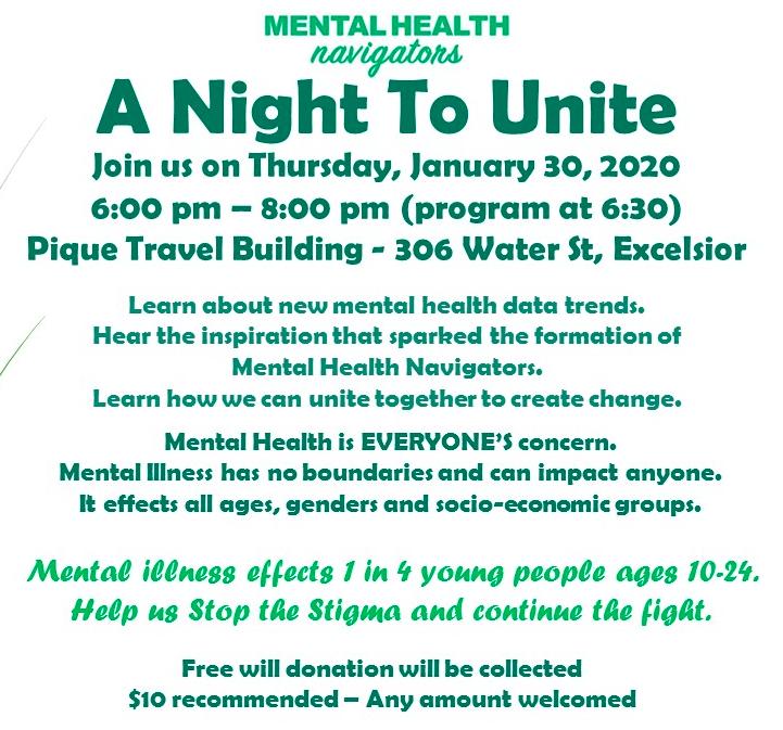 A Night to Unite - Mental Health Navigators