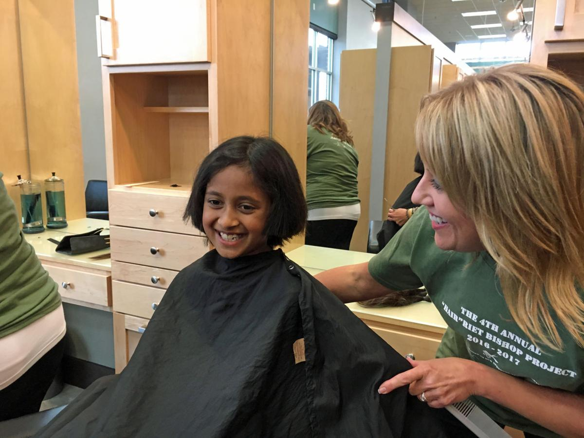 Caring Cuts Harriet Bishop Students Parents Donate Locks
