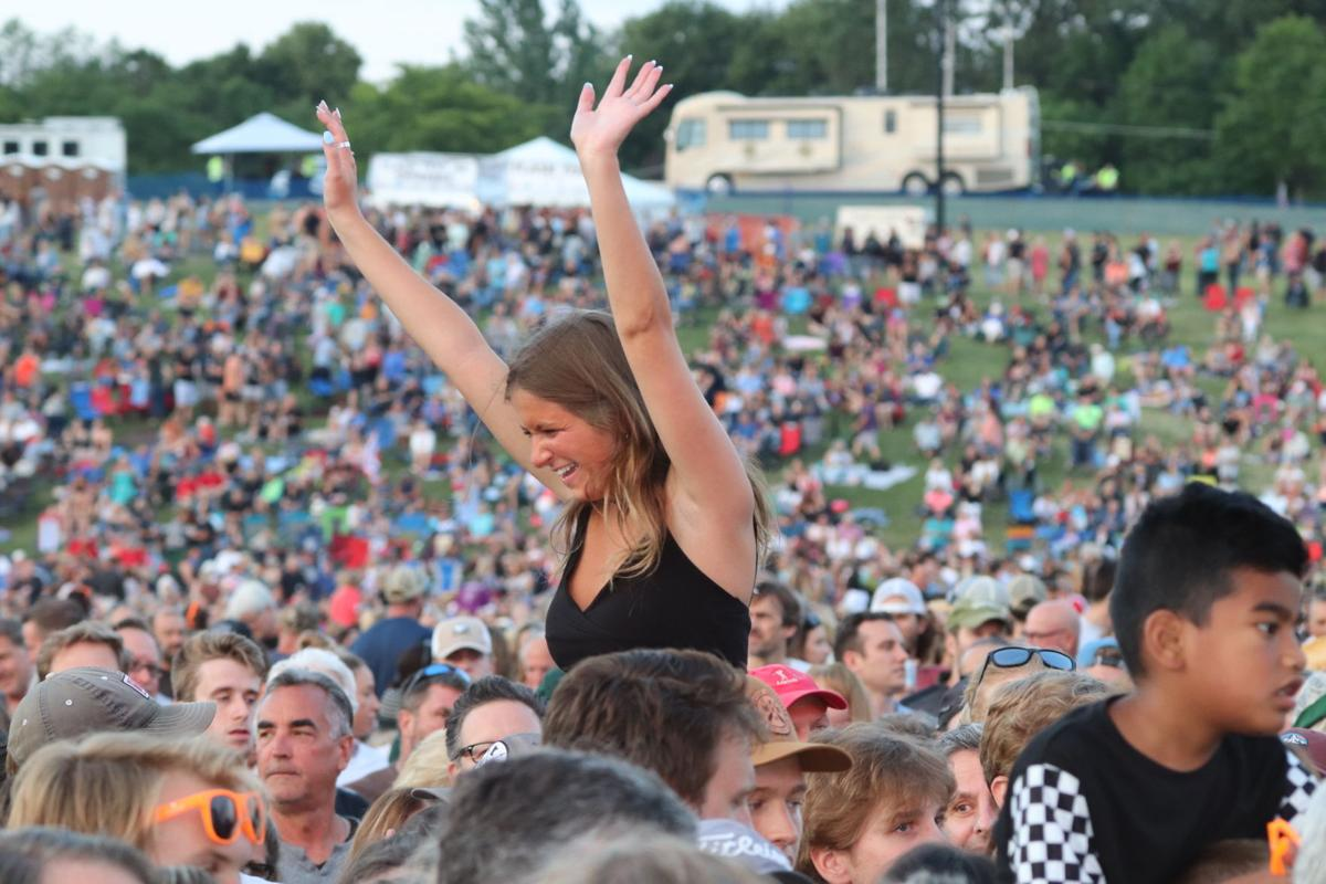 Woman in the crowd