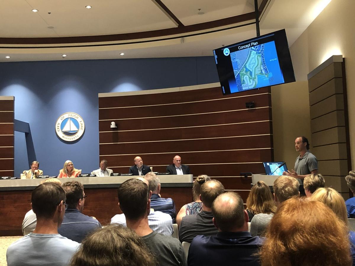 John Anderson presents development to Mayor and City Council