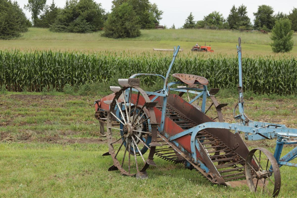 Tractor outside Jordan cornfield