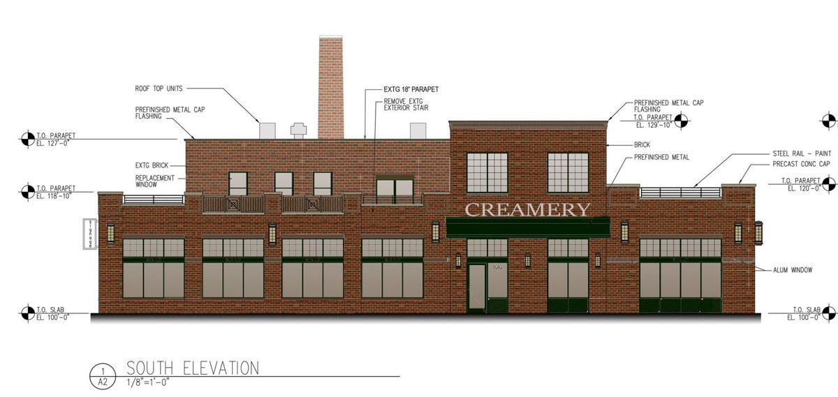Restaurant slated for creamery building local for Local builders house plans