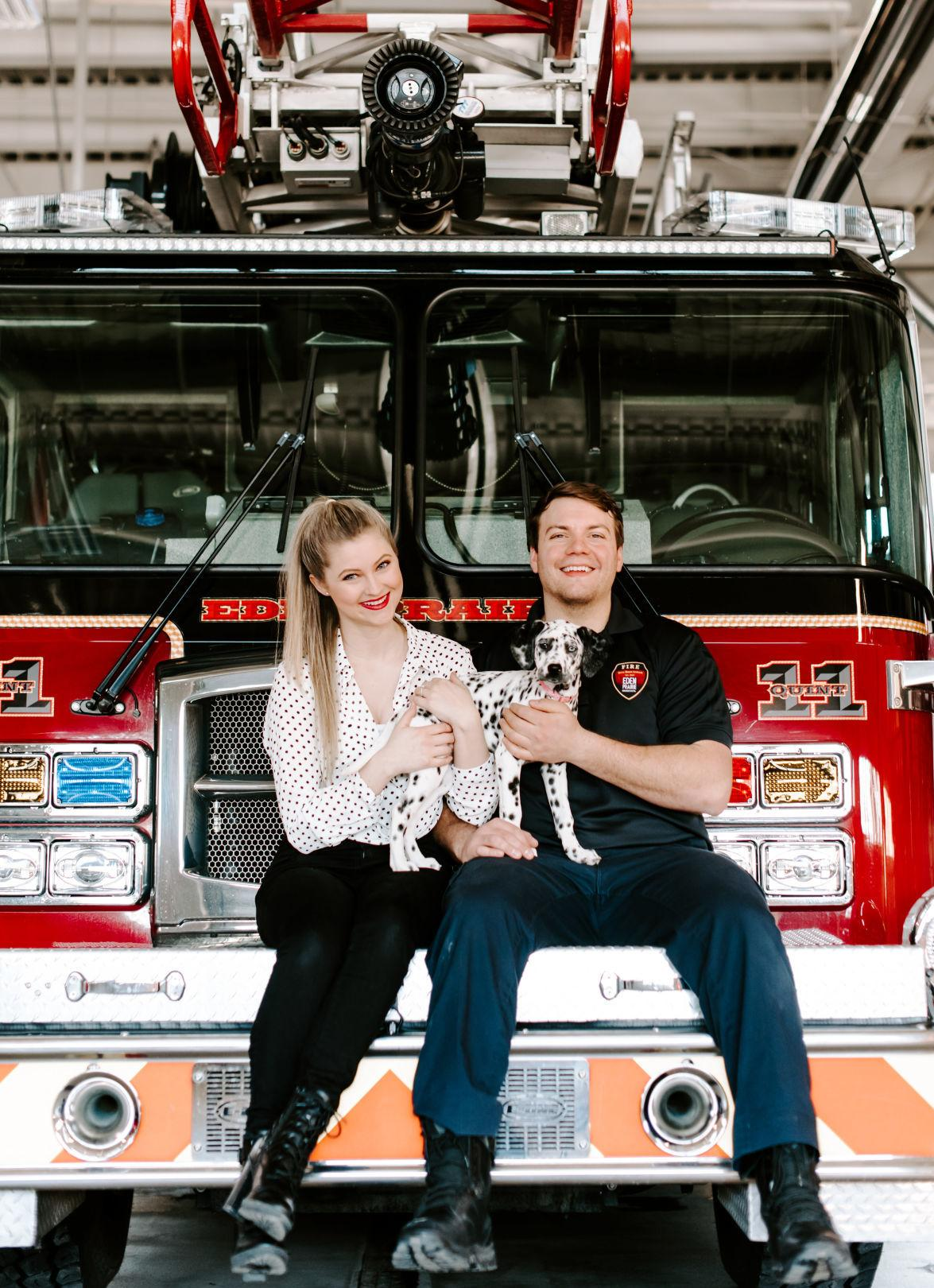 Fire station photoshoot