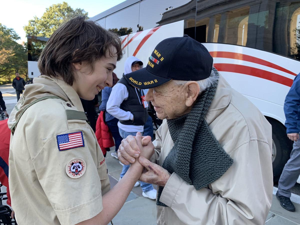 Thanking a veteran