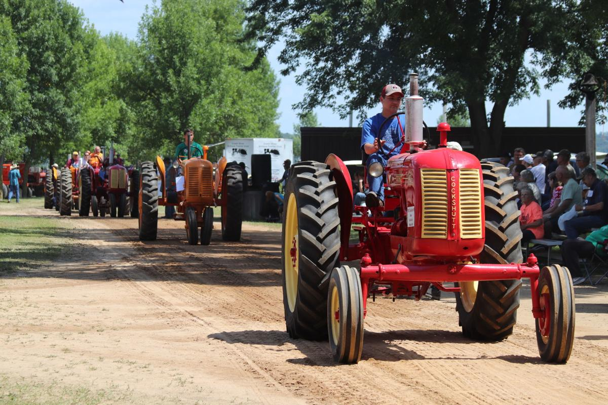 Tractor parade at harvest festival