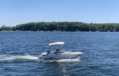 Boaters on Lake Minnetonka