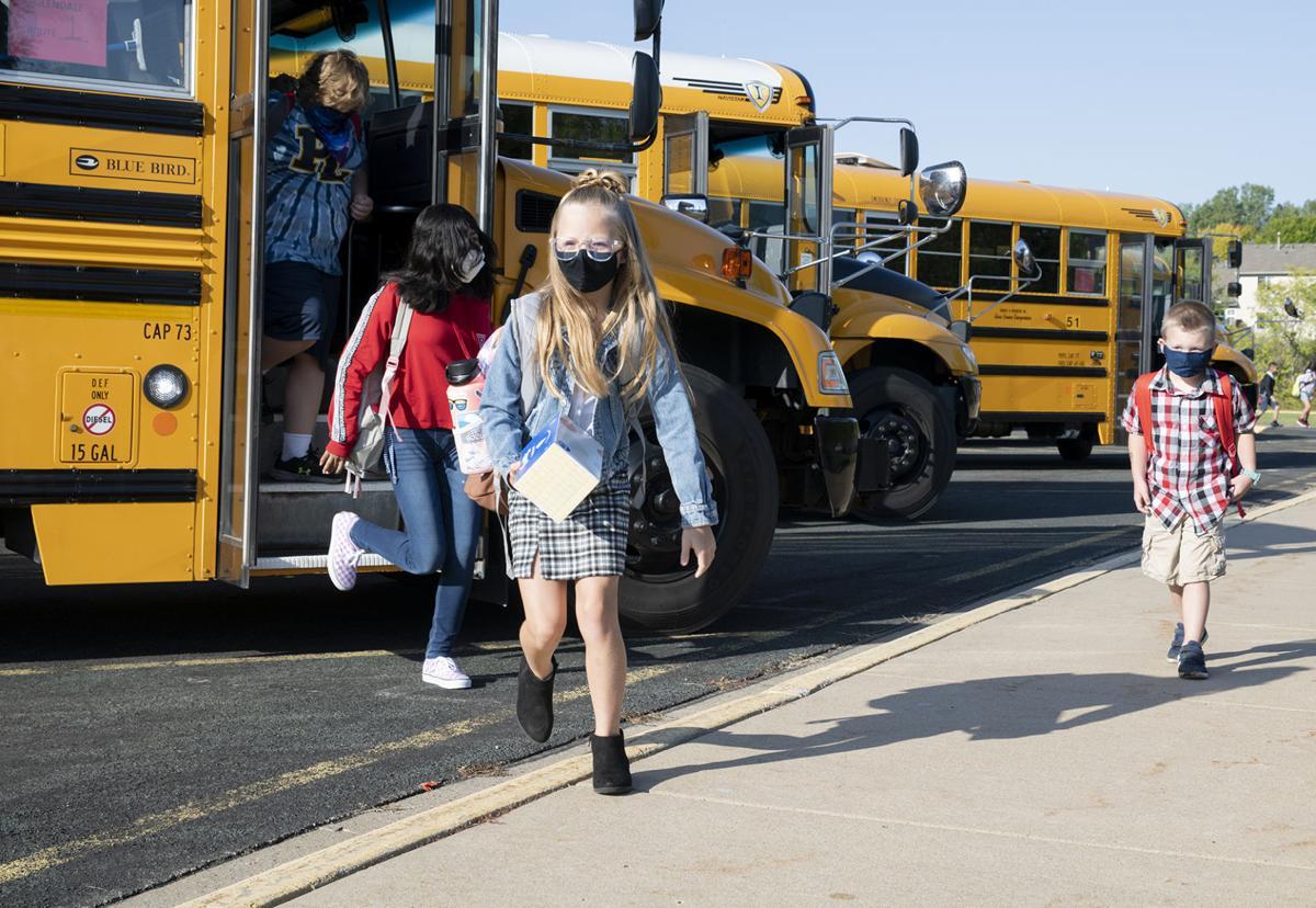 PLSAS students on bus