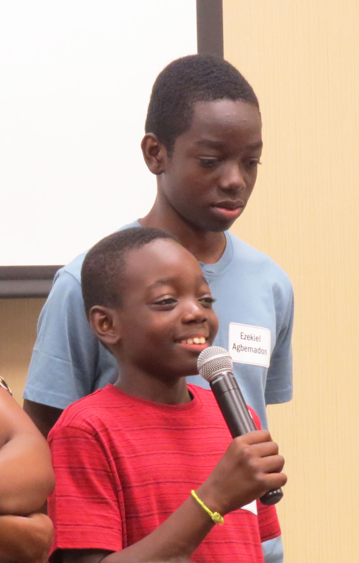 Nate and Ezekiel at the Great Expectations kick-off event