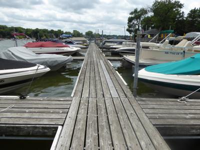 Boat slips on Prior Lake
