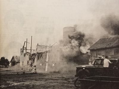 Koenig Farm burns 1969