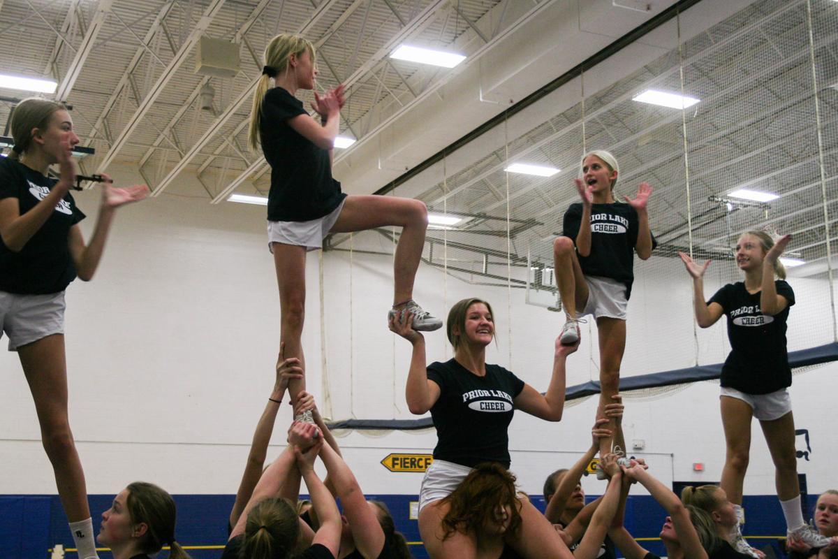 Prior Lake cheer practice