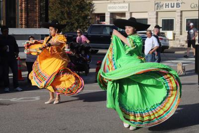 Dancers twirl at Cinco de Mayo