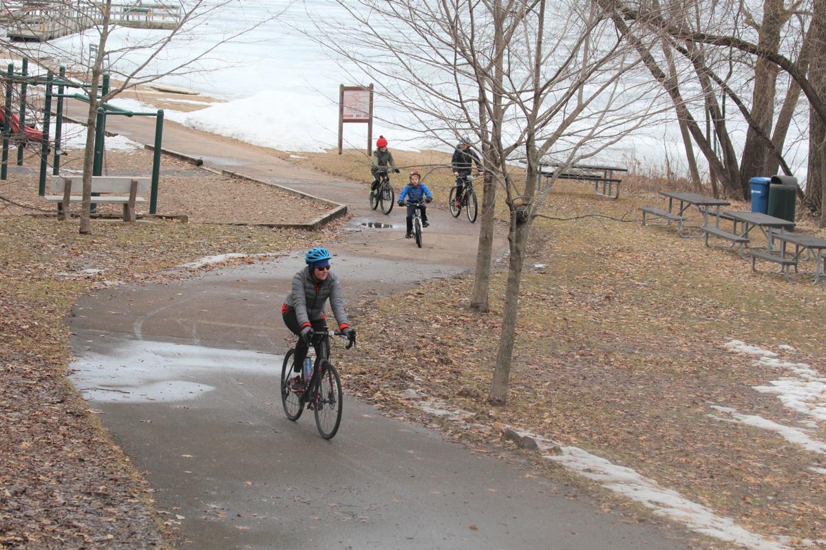 Biking in Lake Ann