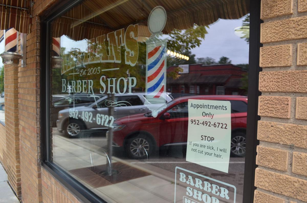 Nathan's barber shop mask sign