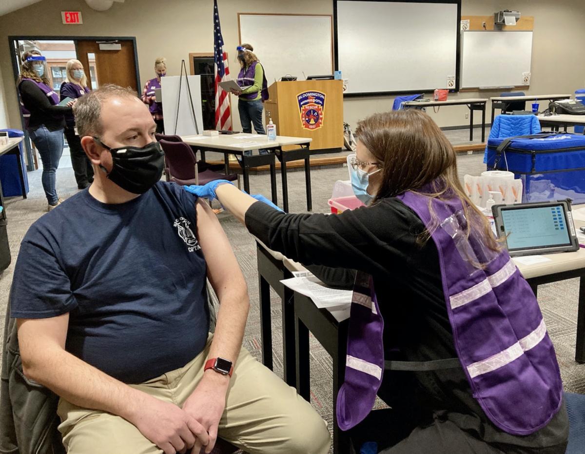 Fire personnel vaccine distribution