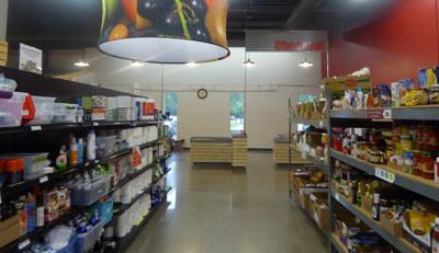 ICA Food Shelf stock image