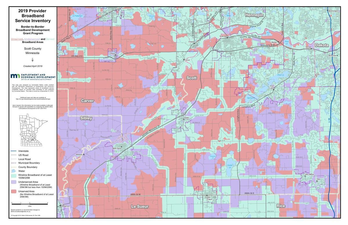 Scott County broadband map