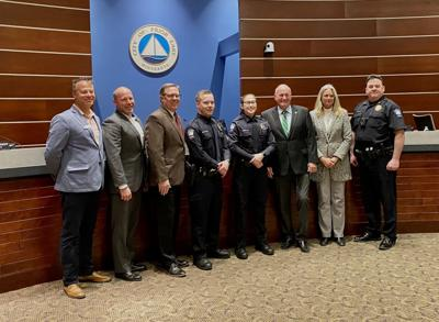 New officers swearing in