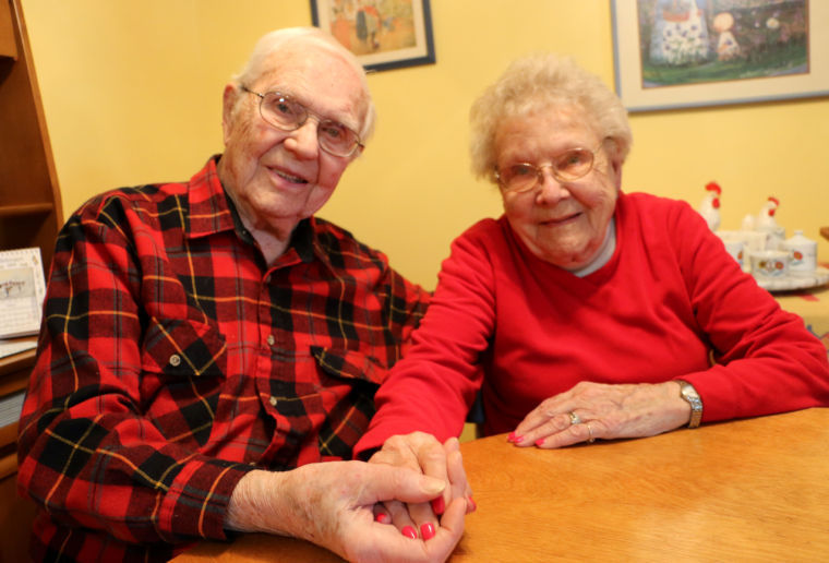 Ray and Marie Sandey to celebrate 77 years married