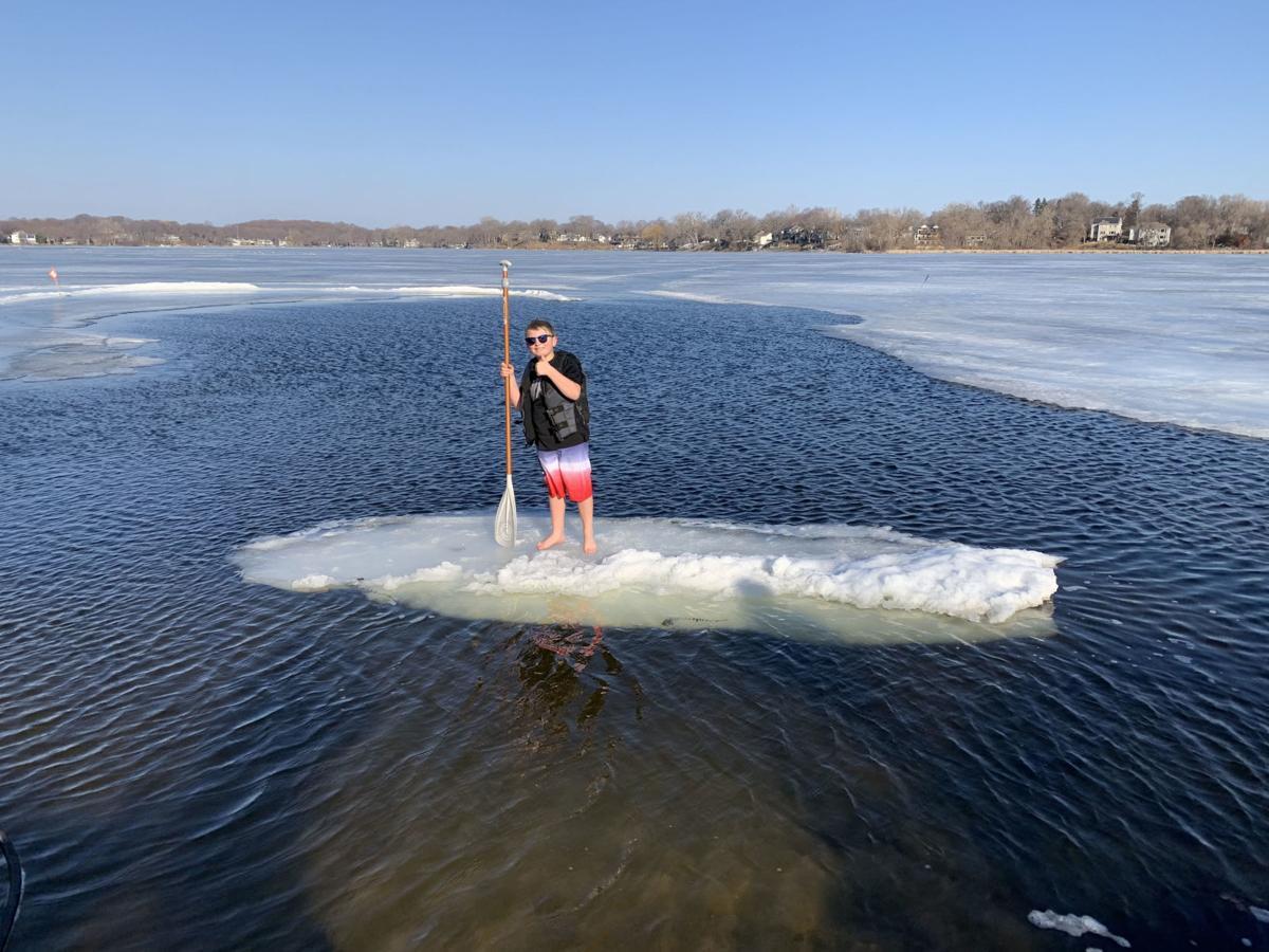 Ice paddle boarding 1