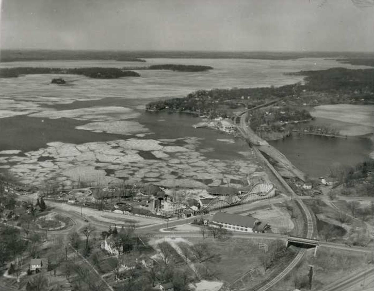 Aerial view of the Excelsior Amusement Park