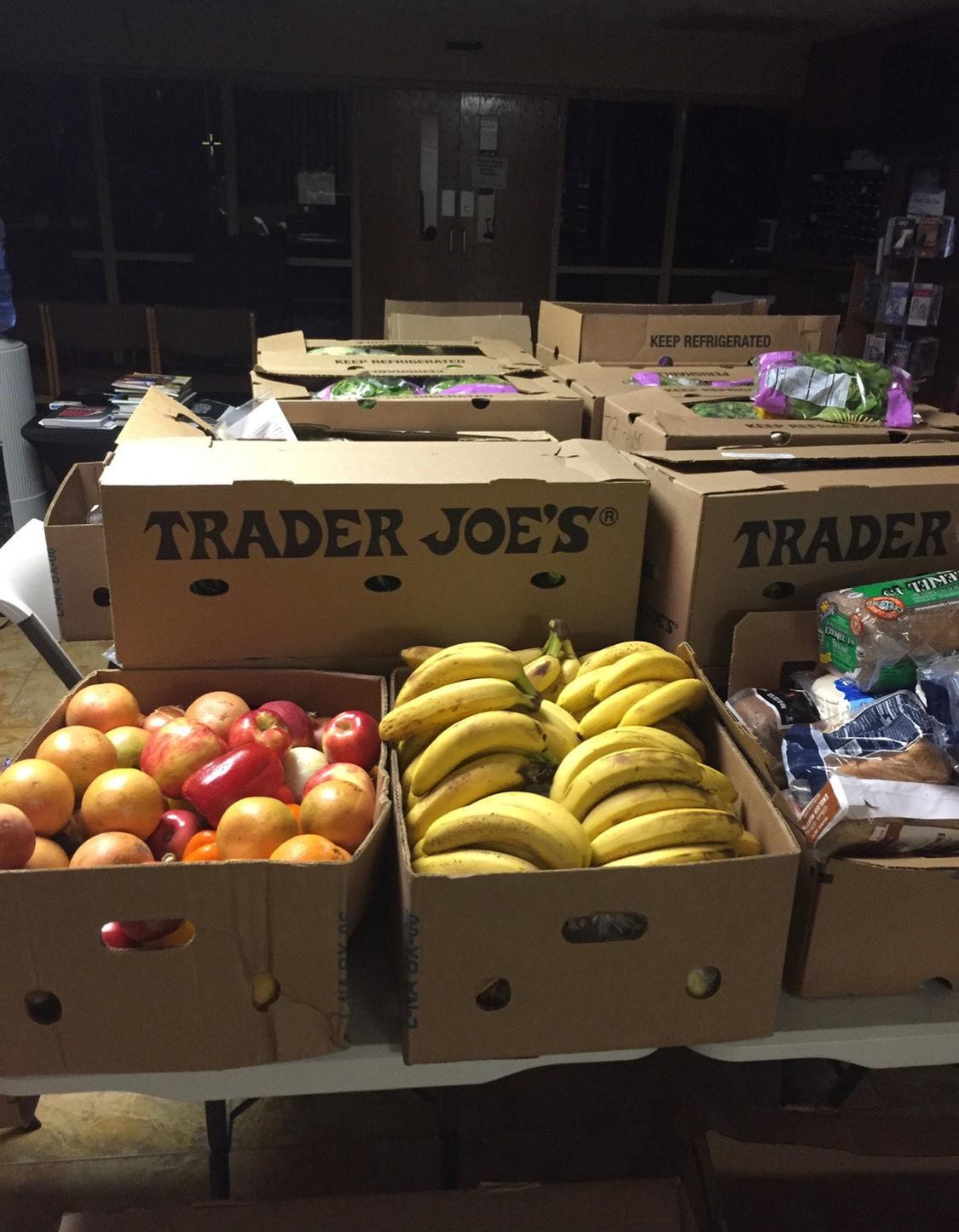 Trader Joe's food donation