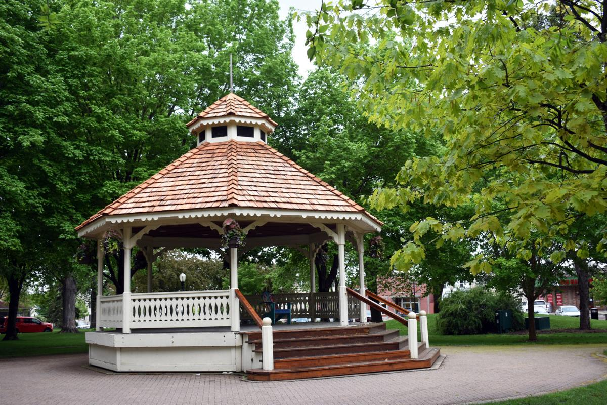Gazebo with new roof