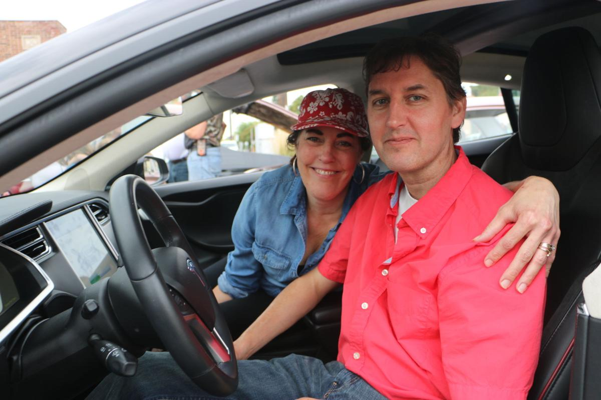 Start Your Engines Jordan Family Debuts Tesla Electric Car At