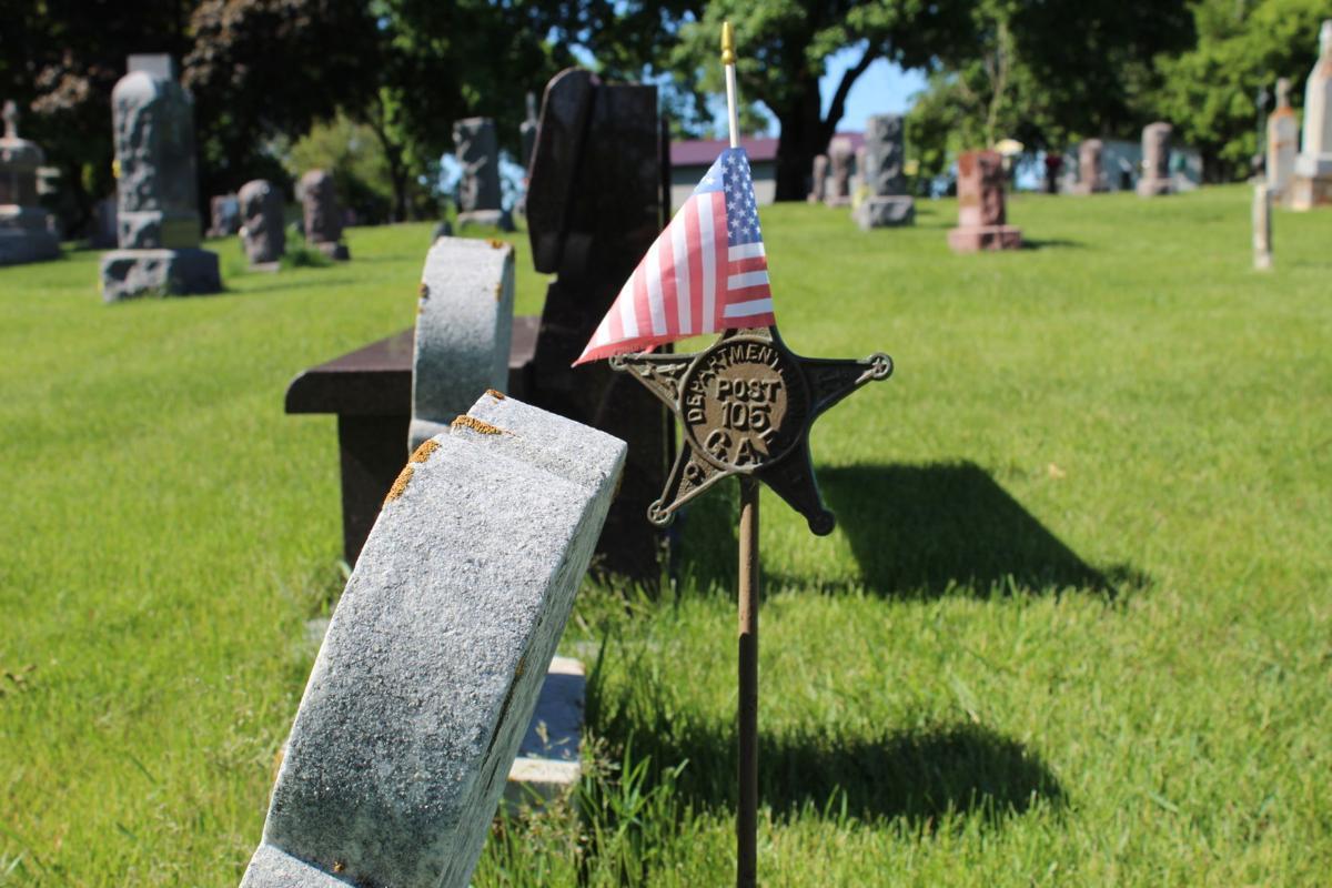 Memorial Day grave site