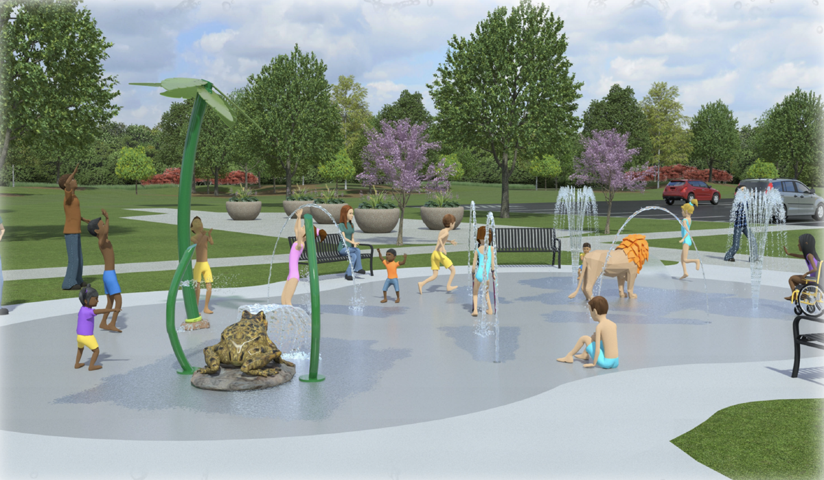 Rendering of proposed Aqautix splash pad