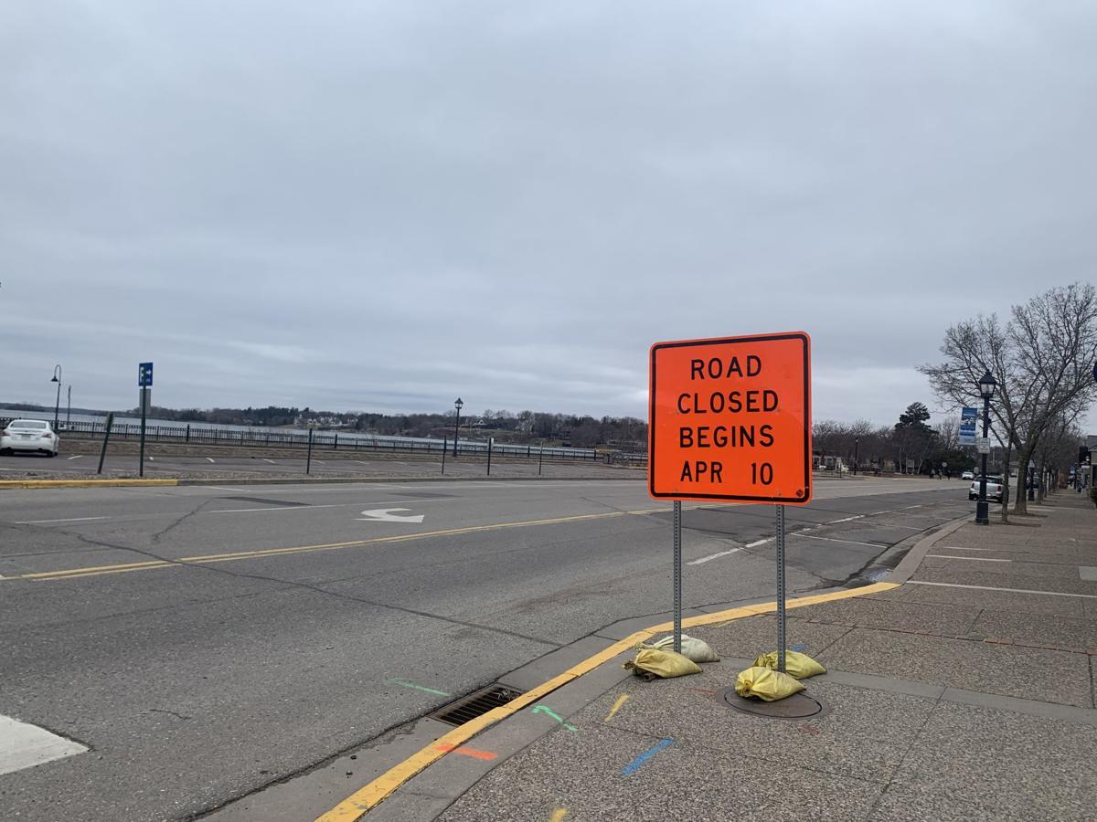 Lake Street closed sign