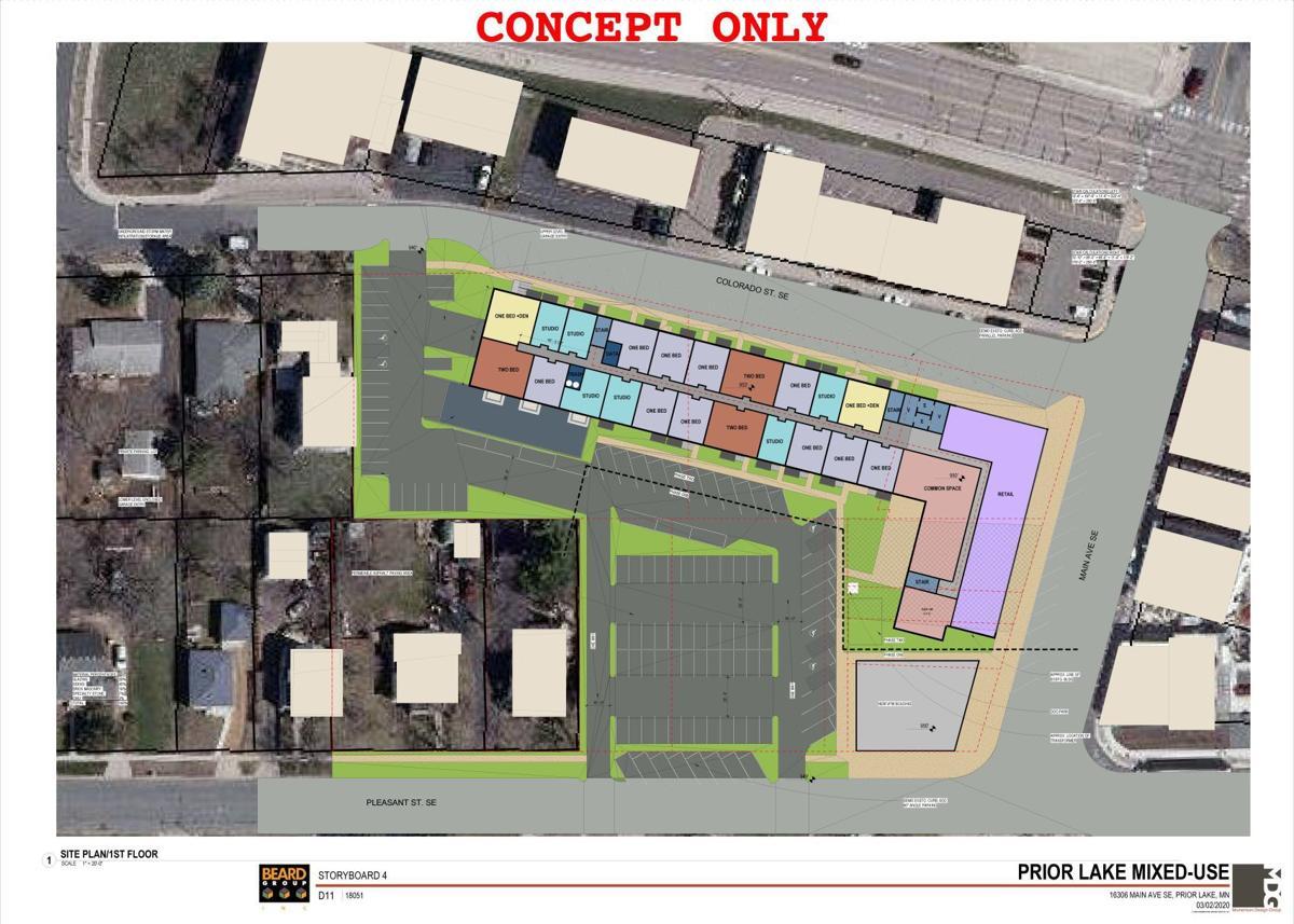 Downtown Prior Lake-VFW concept plan
