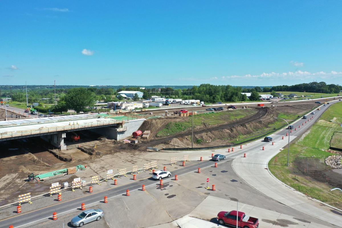Highway 169/41 construction