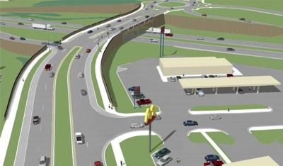 Highway 169 interchange render