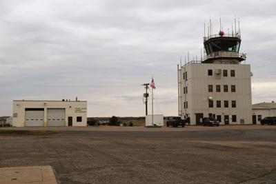 Flying Cloud Airport stock photo 1