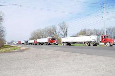 Trucks on Highway 13