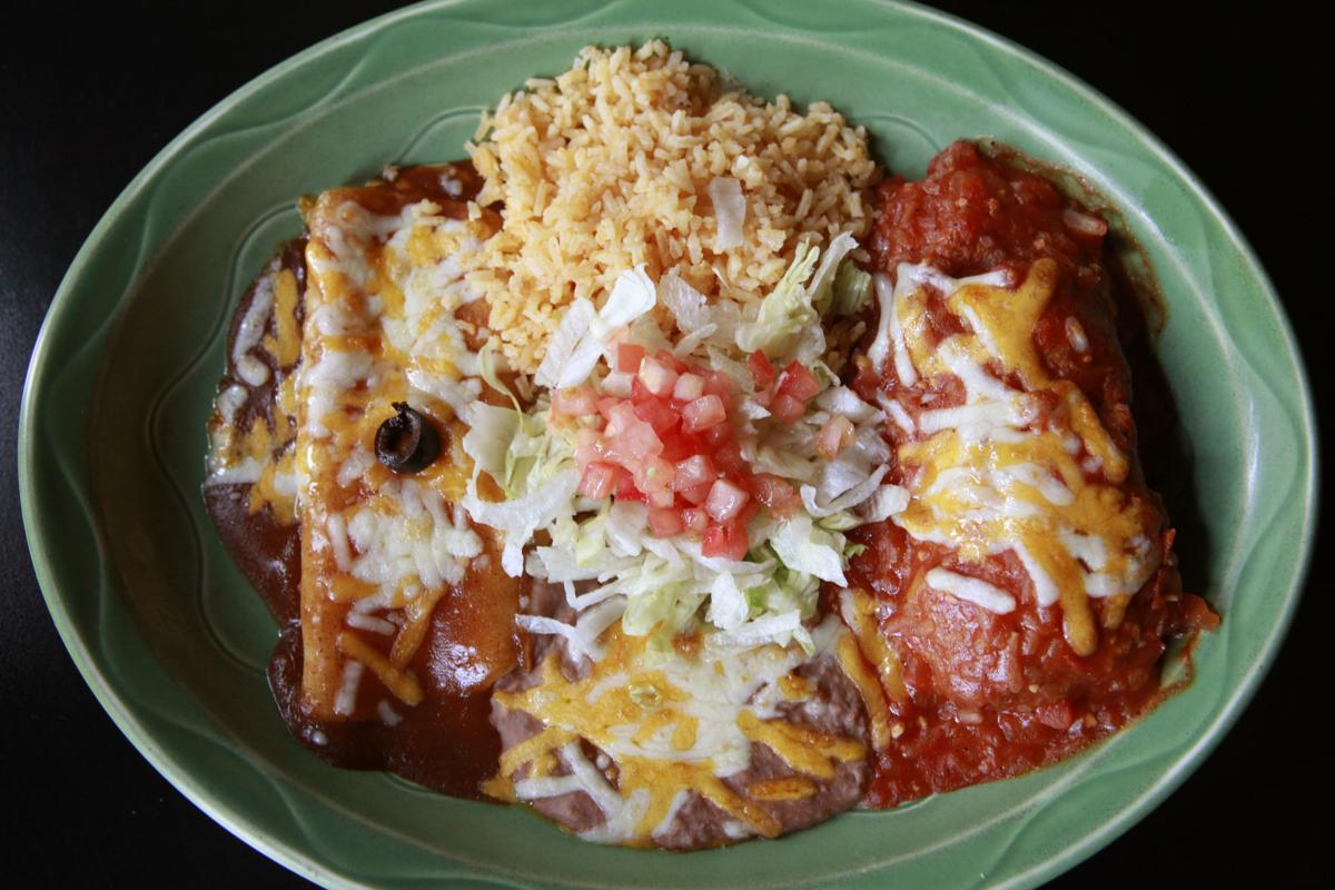 Pablo's enchilada and chile relleno