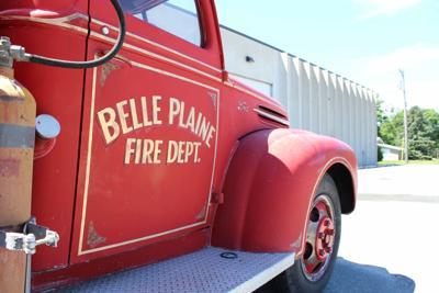 Old Belle Plaine fire engine